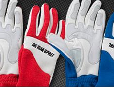 The Man Spirit Gloves - Red + Blue