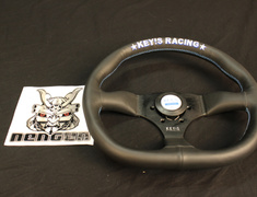 Key's Racing - Steering Wheel - D-Shape - Leather