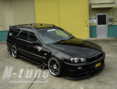 Stagea - WC34 - Front Bumper/Lip Spoiler + Fenders + Bonnet - Construction: FRP - Colour: Unpainted - 3 Piece Kit