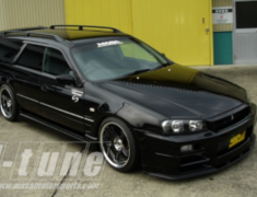 Stagea - WC34 - Front Bumper/Lip Spoiler + Fenders + Bonnet - 3 Piece Kit