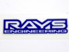7400000003007 Rays Engineering Logo - Blue - RE30 - Silver, Chrome Repair Sticker