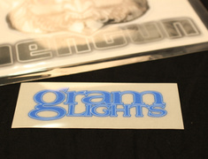 - Gram Lights Logo for 57S-PRO, 57maximum-pro - Colour: Luminous Blue - Dimensions: 80 x 28mm - Quantity: 1 - No.2