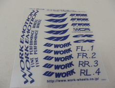 Rim Sticker - Blue