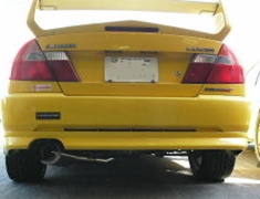 Lancer Evolution IV - CN9A - Material: Titanium - Pipe Size: 80mm - Tail Size: 115mm - Weight: 4.7kg - Tail Type: Left Exit - UL-STM-CNP9A