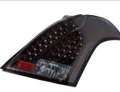 Valenti - Jewel Tail Lamp - Light Smoke/Black Chrome
