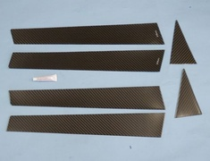 Impreza WRX STI - GRB - Carbon Pillar Garnish - Set of 6 Pieces - VASU-078