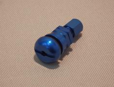 - Europe Aluminium Valvestem - Rays New Logo - Colour: Blue - Quantity: 4 - #54 Set