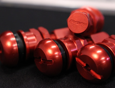 - Europe Aluminum Valvestem - Rays New Logo - Colour: Red - Quantity: 4 - #51 Set