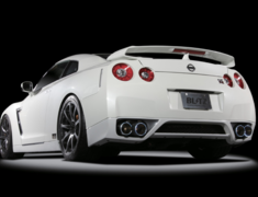 GT-R - R35 - Pieces: 2 - Pipe Size: 4x 80-70mm - Tail Size: 4x 114.3mm - 64073
