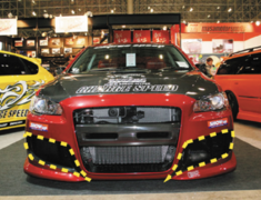 Lancer Evolution X - CZ4A - CS Side Duct Cowl - for ChargeSpeed front bumper - Construction: Carbon - 004929c