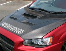 Lancer Evolution X - CZ4A - Bonnet - Type-2 with Duct - Construction: Carbon - 098405c