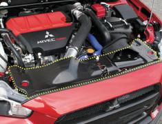 Lancer Evolution X - CZ4A - Radiator Cooling Plate - Construction: Carbon - 004926c