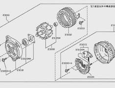 GTR - R35 - 23100 - 23100-JF01A - Nissan R35 Alternator