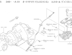 GT-R - R35 - Indicator Assembly Auto Transmission Control (Shift Gate Assembly - See diagram) - 96940-89S0A
