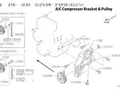 11925M - 11925-05U02 Pulley ASSY Idler AC Compressor