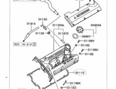 Mitsubishi - OEM Parts - FTO - DE3A Engine Parts