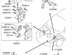 EVO VIII - CT9A - Engine Mount RH - Category: Engine - 02807 - MR554434