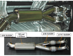 HKS - Stainless Centre Pipe for GTR R35