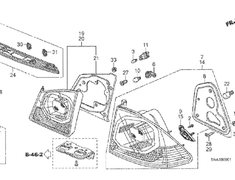 Civic Type R - FD2 - Tail Lamp Unit LH (#14 in diagram) - Category: Exterior - 33551-SNW-J51