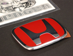 "Civic Type R - FD2 - Honda - Red Front ""H"" Emblem - Category: Body - 75700-SNW-003"