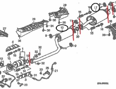 Civic - Type R - FD2 - OEM Exhaust (Diagram Attached) Cat Back (Items 12 + 17) - Category: Exhaust - 18220-SNW-J01 + 18307-