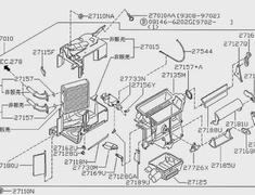 Skyline - R33 GTS-t S1 - ECR33 - Heater core - Category: Engine - 27115 - 27140-15U00