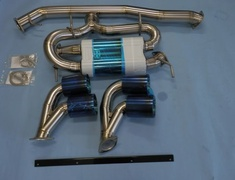 GT-R - R35 - A body - B Tail - Gold Ring - Pieces: 2 - Pipe Size: 90mm - Weight: 10.65kg - R1 Titan R35