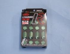 Green - M12xP1.5 - 35mm - 20 Nuts - Locking