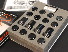 Universal - KIC1K - Black - M12xP1.5 - 35mm - 20 Nuts - Locking