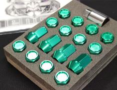 - KIC16E - Light Green - M12xP1.5 - 35mm - 16 Nuts - Locking
