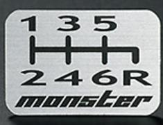 Optional 6 Speed Shift Pattern Emblem