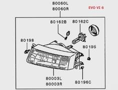 Mitsubishi - OEM Parts - Lancer Evo IV-VI