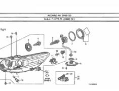 Honda - Accord - CU2 - 4 bulb headlight