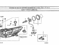 Honda - Accord - CU2 - 2 bulb headlight