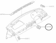 S15 Chrome plastic Vents 68750-85F40