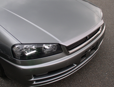 Skyline - R34 25GTT - ER34 - Nissan - Skyline R34 GTT - ER34 - 4 Door and 2 Door - Bonnet Lip Spoiler- FRP - R34 BLS - Type 1