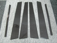 Skyline - R34 25GTT - ER34 - Carbon Pillar Covers (6 piece set) - Construction: Carbon - R34 CPC - 4 Door Set