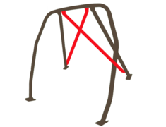 Material: Steel - Rear Cross Bar