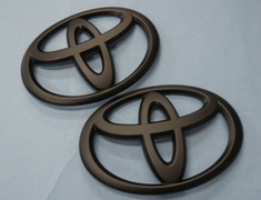 Grazio - Toyota Emblems - Solid Color Emblem - Matt Black