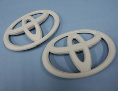 Grazio - Toyota Emblems - Solid Color Emblem - Matt White