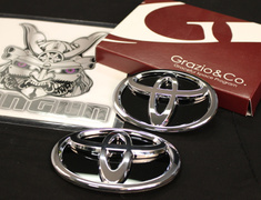 Grazio - Toyota Emblems - Solid Emblem Base - Black