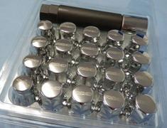 Plated - x16 Nuts, x4 Locknuts, x1 Adapter