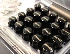 Black - x16 Nuts x4 Locknuts - x1 Adapter