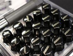 - 16x Nuts + 4x Locknuts - Colour: Black - Thread: M12xP1.25 - Black - 5H - M12 x P1.25