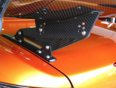 S2000 - AP1 - Type 1 - Fixed Trunk Side Mount (Low Mount) - Material: Dry Carbon - Width: 1390mm - Height: 100mm -