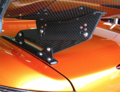 S2000 - AP1 - Type 1 - Fixed Trunk Side Mount (Low Mount) - Material: Wet Carbon - Width: 1390mm - Height: 100mm -