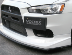 Lancer Evolution X - CZ4A - Half Spoiler w/ Carbon Front Splitter - Construction: Urethane / Carbon Fiber - Colour: Unpainted - E10F2 + E10F3