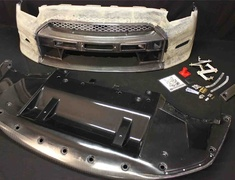 Nissan GTR R35 Front bumper and front lip + LED