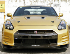 GT-R - R35 - Full Bumper Kit Ver.1 - for use without LED day lamps - Material: Carbon + FRP - Color: Unpainted - TS-R35-FBKV1-WO