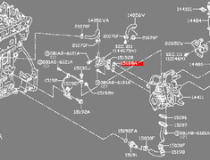 Skyline - R32 GTR - BNR32 - Gasket, eye bolt - Category: Engine - 15193-EB70A